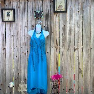 Formal teal dress